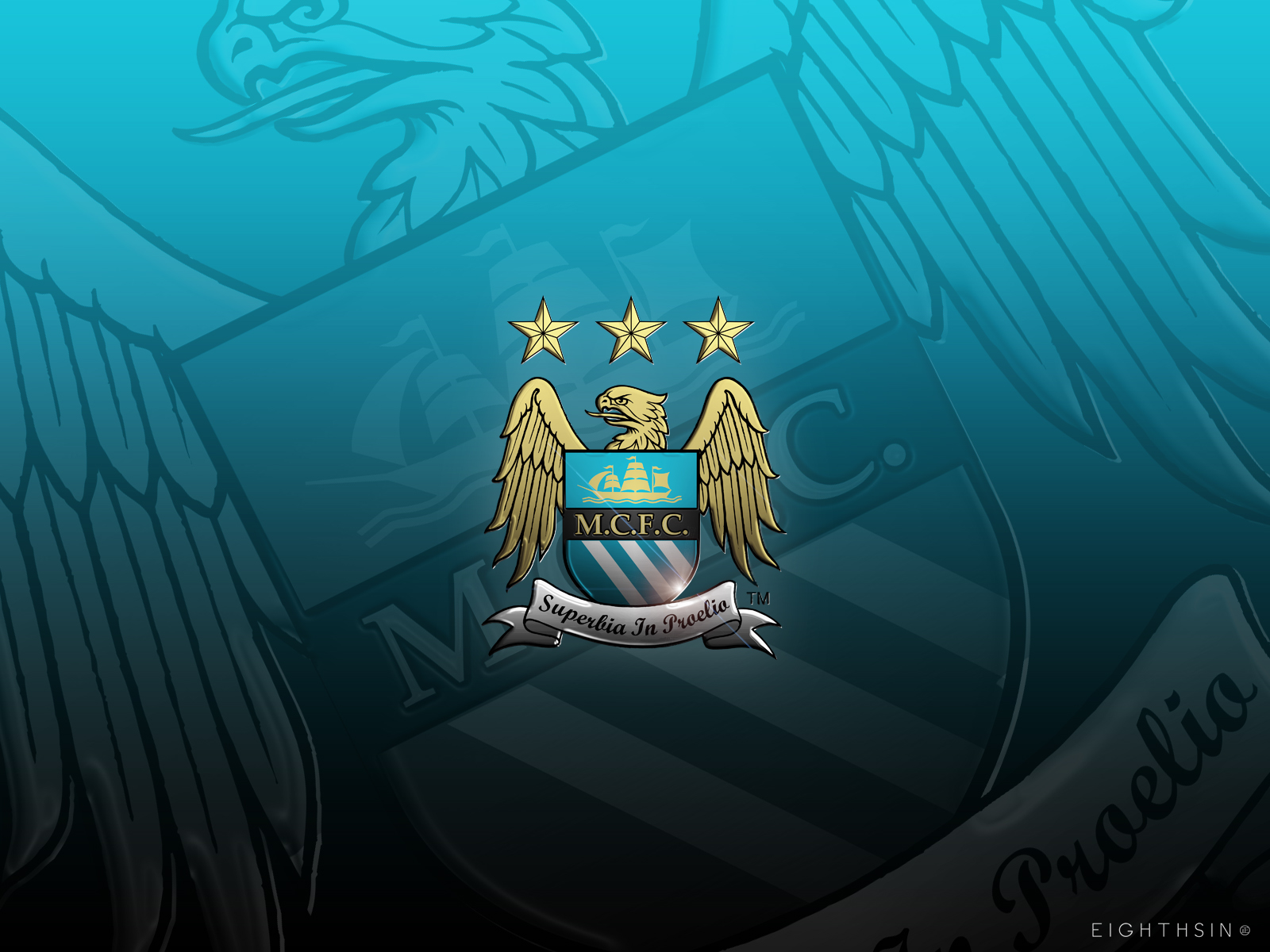 mcfc gloss 1600x1200 Manchester City Desktop Wallpaper
